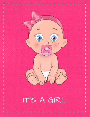 Its a Girl Poster Dedicated to Baby Shower Day