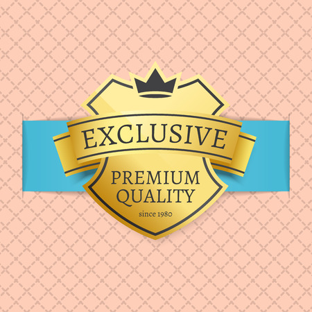 Exclusive Premium Quality Since 1980 Brand Label Illustration