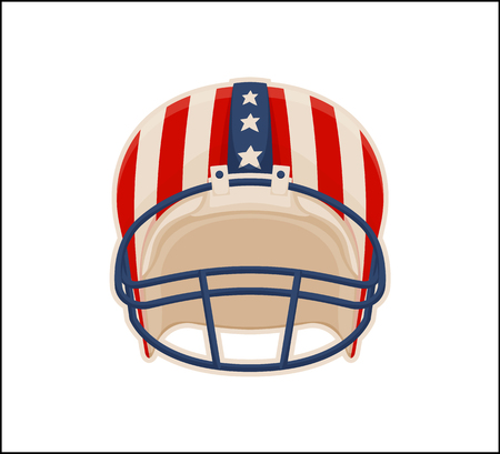 Helmet for American Football Sport, Color Poster