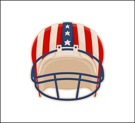 Helmet for American Football Sport, Color Poster