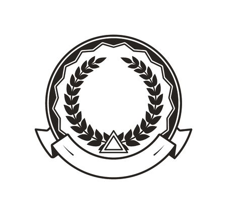 Medal for Great Achievement Monochrome Template