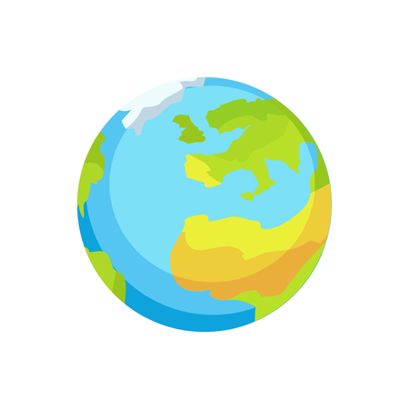 Earth with Garbage Amount Pointed on Continents Illustration