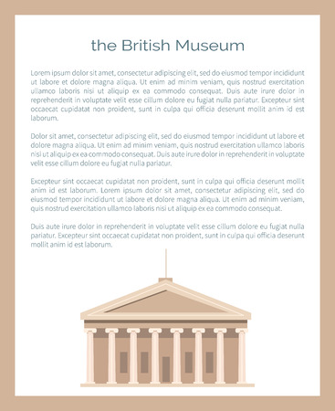 British Museum Famous Building, Public Institution Illustration