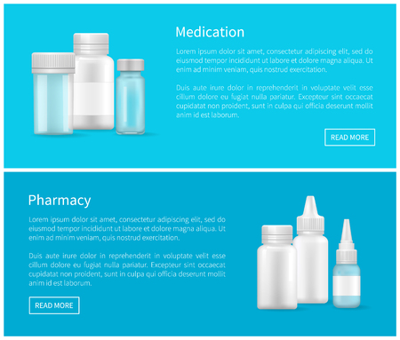 Medication and Pharmacy Web Banner Empty Container