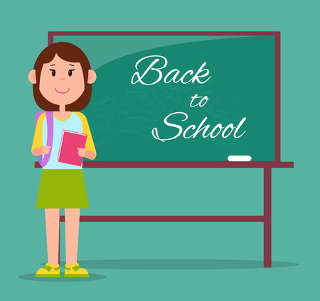 Bright Back to School Poster, Vector Illustration
