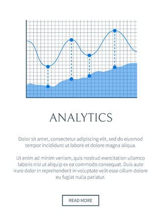 Analytics Banner, Colorful Vector Illustration