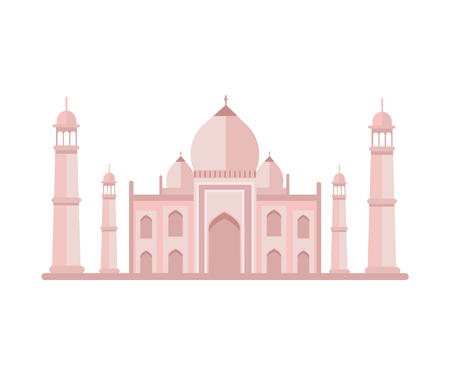 Famous Luxurious Taj Mahal Building with Towers