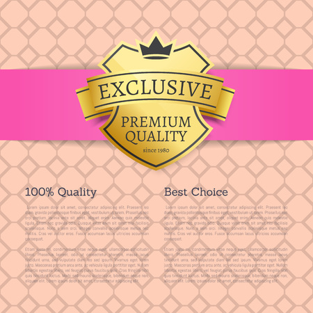 Exclusive Premium Quality Best Choice Brand Label Stock Photo