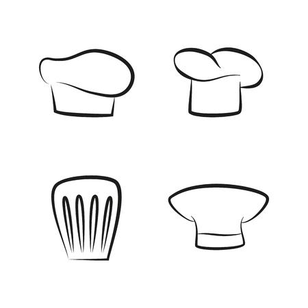 Kitchen Caps Set Headwear Item for Baker Chef Cook Banque d'images - 107597404
