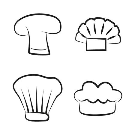 Kitchen Caps Set Headwear Item for Baker Chef Cook Banque d'images - 107597408