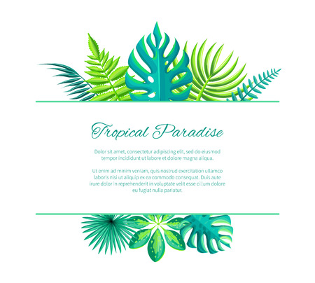Tropical Paradise Advertisement Poster Add Text