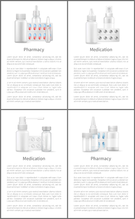 Pharmacy and Medication Posters with Containers