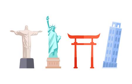 Travel Destination Collection Vector Illustration 向量圖像
