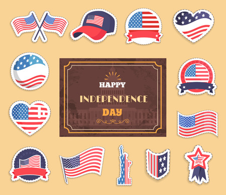 Happy Independence Day Color Vector Illustration