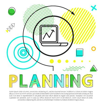 Planning Process Colorful Vector Illustration Standard-Bild - 109244813