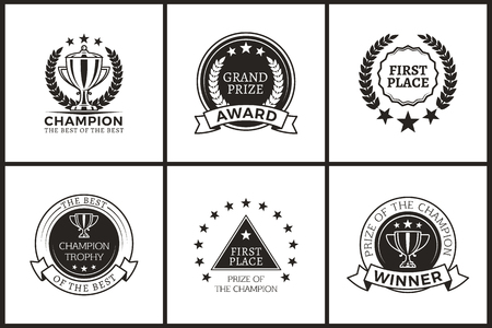 Grand Prize of Champion Monochrome Logotypes Set
