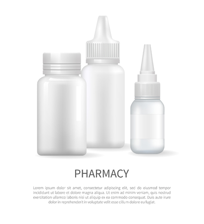 Pharmacy Poster with Nasal Spray Container Capsule