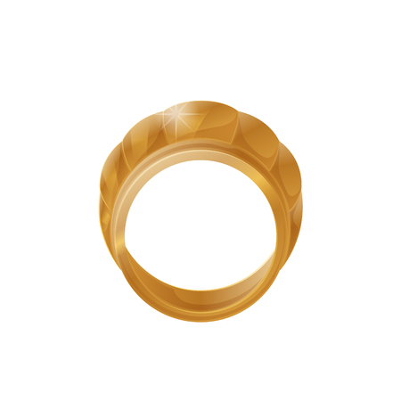 Gold Stylish Jewelery Accessory Item Romantic Ring