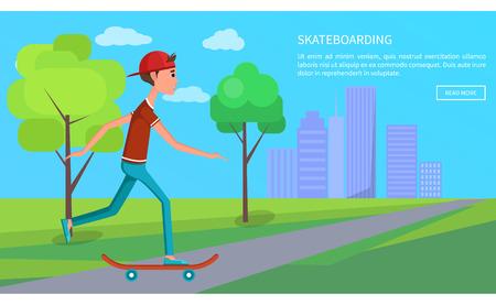 Skateboarding Banner Skateboarder Shirt and Jeans