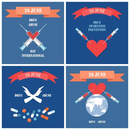 Prevenzione della consapevolezza della droga Internazionale 26 giugno