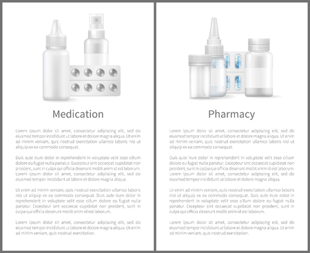 Medication and Pharmacy Posters Medicament Items