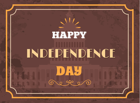 Happy Independence Day Poster Washington Capitol