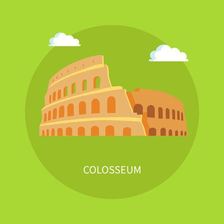 Römische Kolosseum-Ruinen im alten Architekturstil