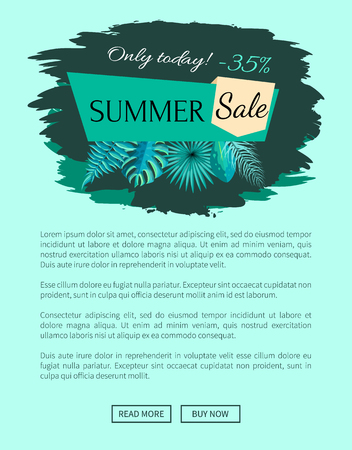 Summer Sale with 35 Off Only Today Promo Emblem
