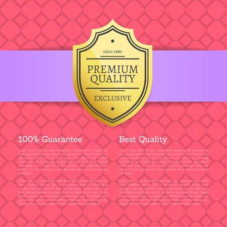 Quality Award Premium Brand 100 Seal Label Poster