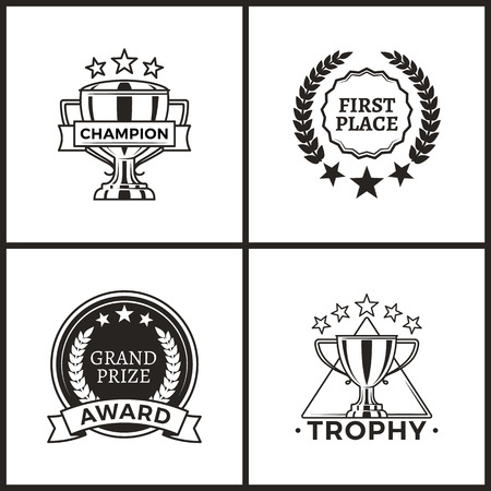 Trophy and Awards Collection Vector Illustration Stock Illustration - 109245064