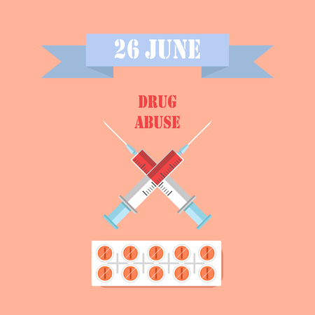 26 June Drug Abuse Day Healthcare Colorful Poster