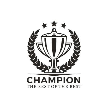 Champion Best of Best Award Vector Illustration