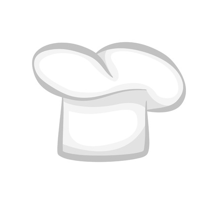 White Chef Cook Hat Realistic Stylish 3D Design Illustration