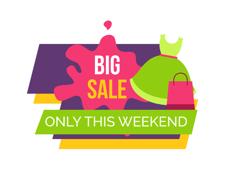 Big Sale Only this Weekend for Female Clothes Ilustracja