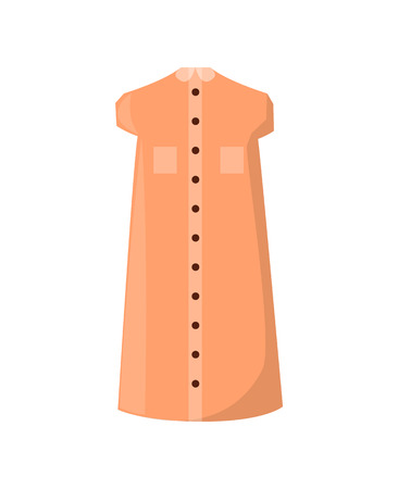 Stylish Summer Dress with Pockets and Buttons Stock fotó