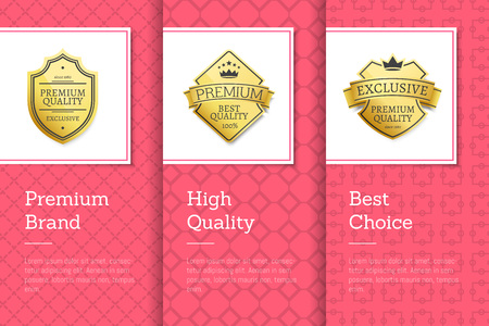 Premium-Marke und hochwertige Vektor-Illustration Vektorgrafik