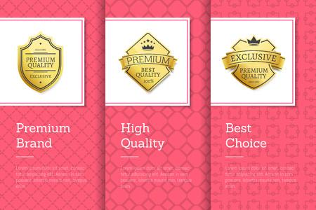 Premium Brand and High Quality Vector Illustration Illustration