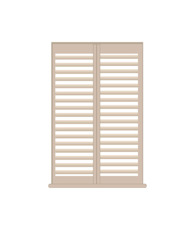 Stylish Wooden Lattice Shutters with Windowsill