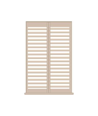 Stilvolle Holzgitter-Fensterläden mit Fensterbank Vektorgrafik