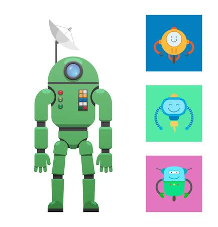 Robotic Mechanisms Collection Vector Illustration