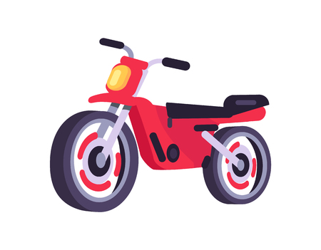 Red Motorbike Stylish Motor Scooter Transport Item