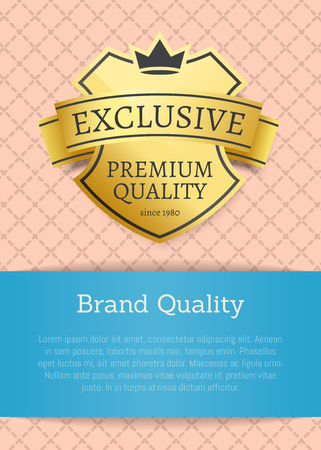 Brand Quality Exclusive Premium Product Gold Label Stock Vector - 109357414