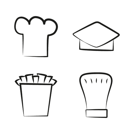 Kitchen Caps Set Headwear Item for Baker Chef Cook