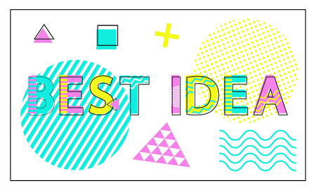 Best Idea Banner with Geometric Figures and Lines