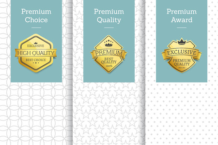 Premium Choice Posters Set Vector Illustration