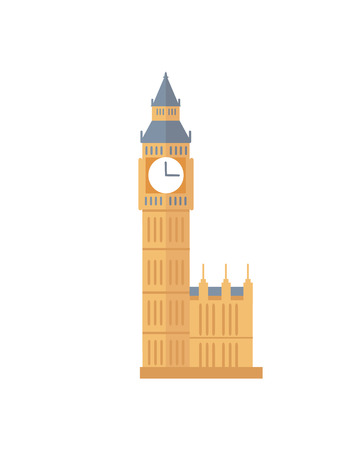 Famous Old Big Ben Tower with Clock from England