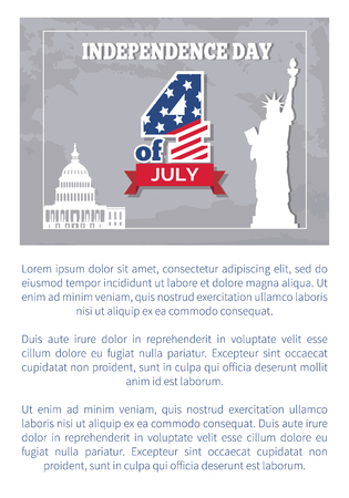Independence Day 4 July Posters Statue of Liberty