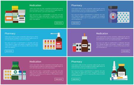 Medication and Pharmacy Poster Vector Illustration