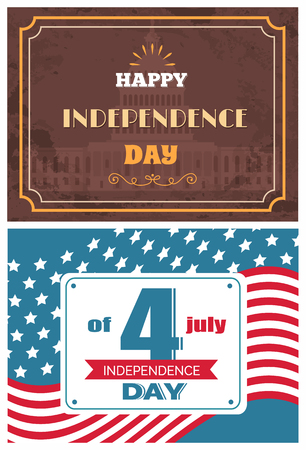 Fourth July Independence Day Vector Illustration Archivio Fotografico - 109513201
