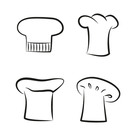 Kitchen Caps Set Headwear Item for Baker Chef Cook Banque d'images - 109586580